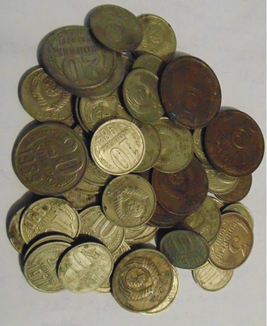На фото монеты СССР